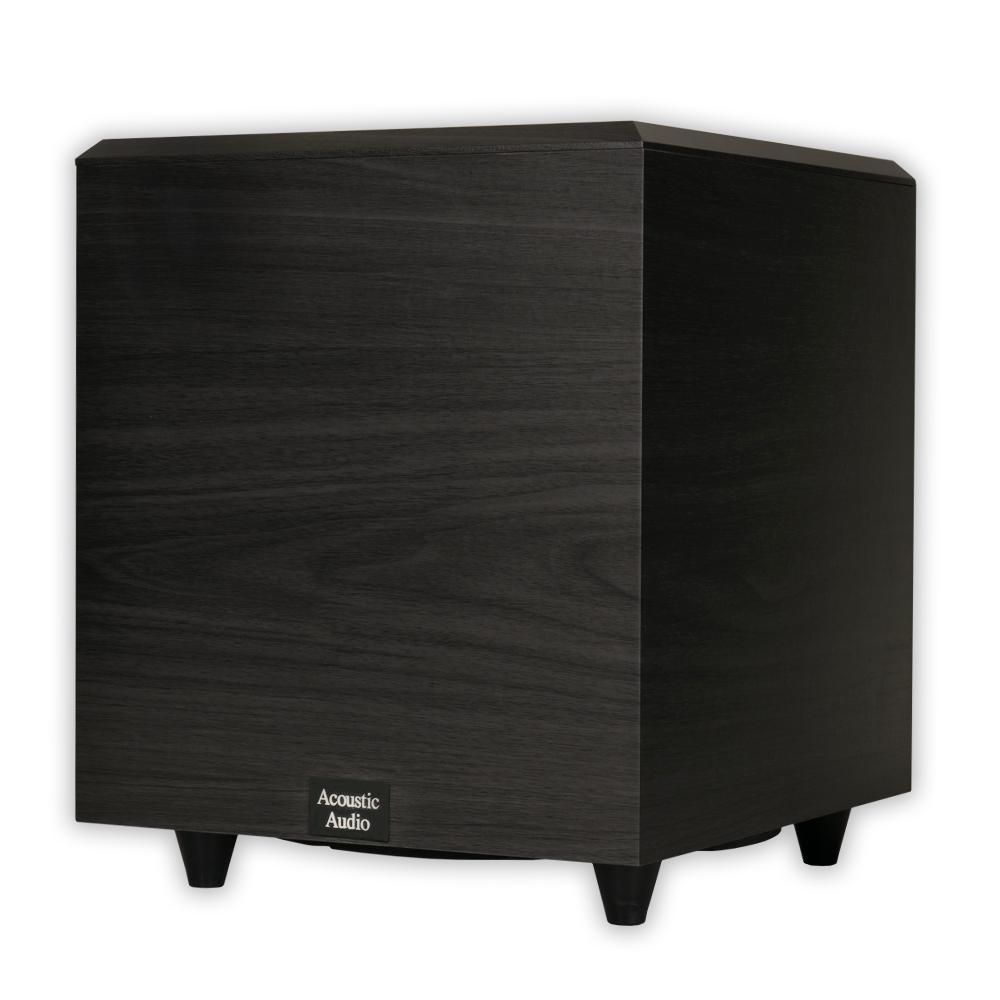 Acoustic Audio by Goldwood Home Theater Powered Subwoofer Black Down Firing Sub