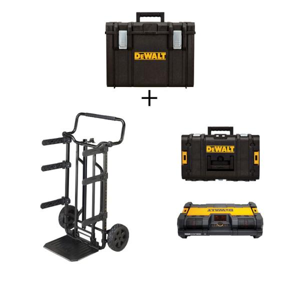 TOUGHSYSTEM 27 in. Tool Box Carrier, Extra Large Tool box, Small Tool Box and Portable Radio Combo (4-Piece Set)