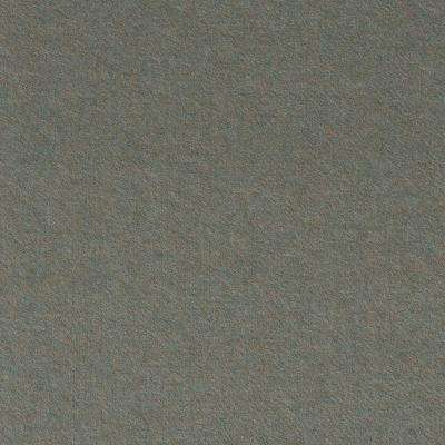 Premium Self-Stick First Impressions Flat Olive Texture 24 in. x 24 in. Carpet Tile (15 Tiles/60 sq. ft./case)