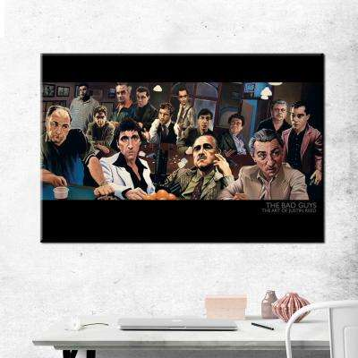 "24 in. x 36 in. ""The Bad Guys - The Art of Justin Reed"" Printed Canvas Wall Art"