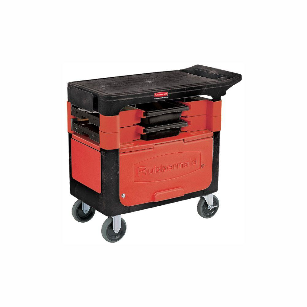 Go Home Black Industrial Kitchen Cart At Lowes Com: Rubbermaid Commercial Products Trades Cart With Locking