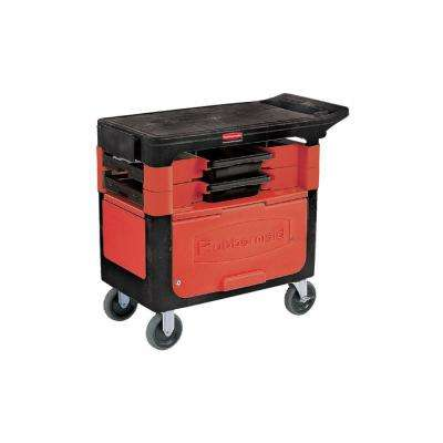 19.25 in. Trades 2-Drawer Utility Cart with Locking Cabinet