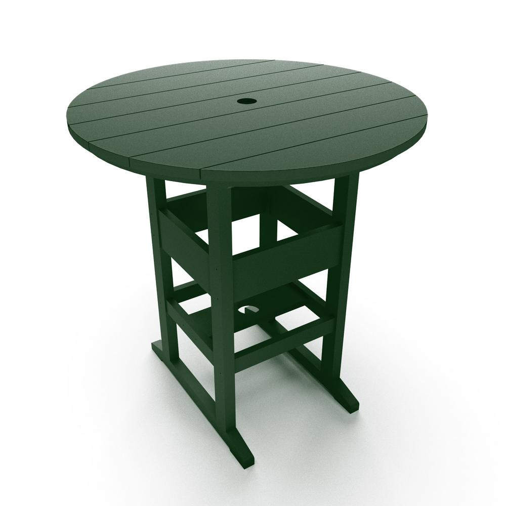 DuraWood Outdoor Plastic Bar Height Outdoor Dining Table in Pawley's Green