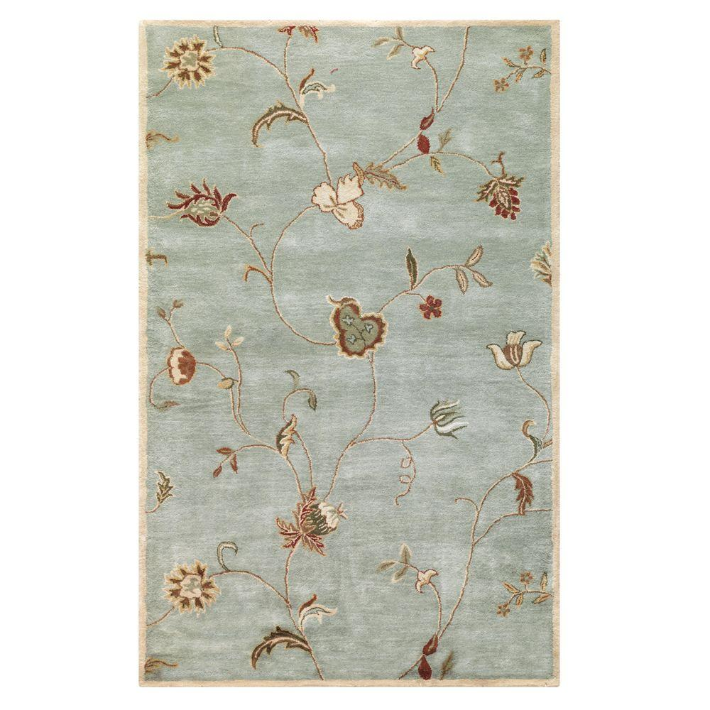 Home Decorators Collection Lenore Ice Blue 4 ft. x 6 ft. Area Rug