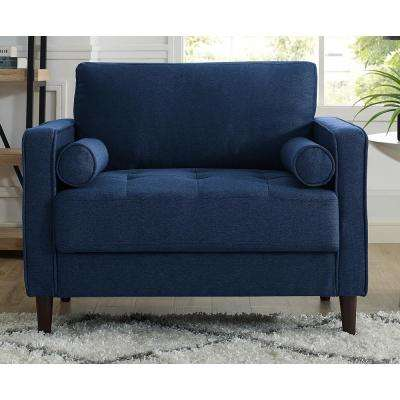 Lillith Mid Century Modern Chair in Navy Blue