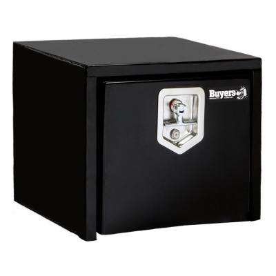 14 in. x 12 in. x 18 in. Black Steel Underbody Truck Box with T-Handle Latch