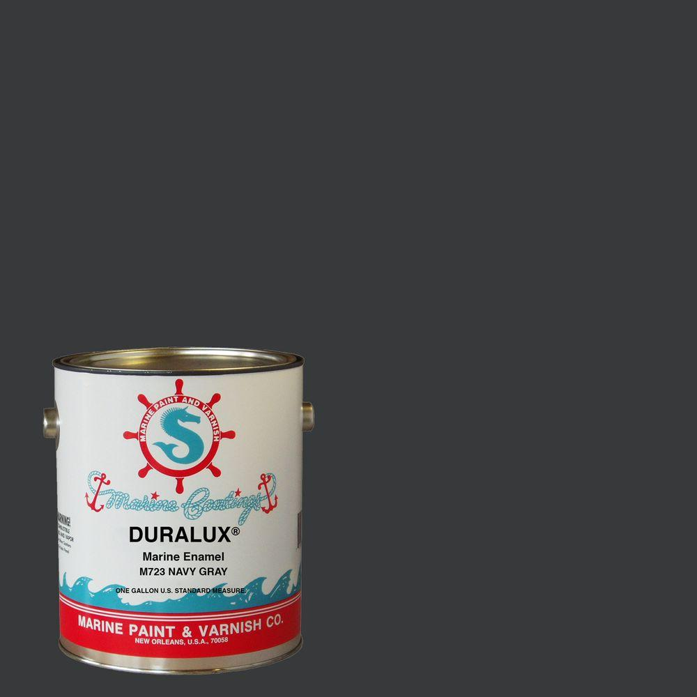 Duralux Marine Paint 1 Gal Navy Gray Marine Enamel M723 1 The Home Depot