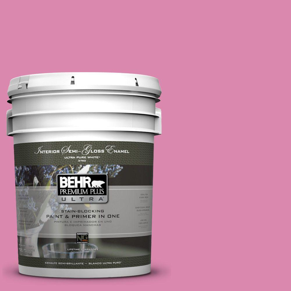 5 gal. #100B-5 Springtime Bloom Semi-Gloss Enamel Interior Paint and Primer