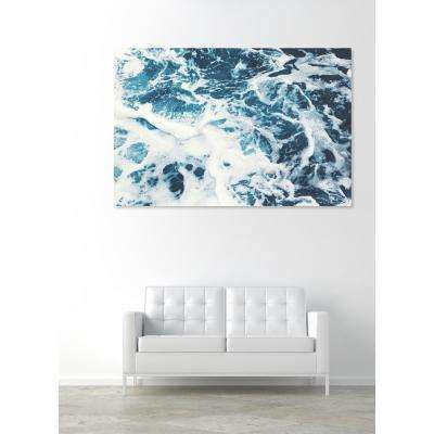 15 in. x 10 in. 'Mykonos Water I' by Oliver Gal Printed Framed Canvas Wall Art