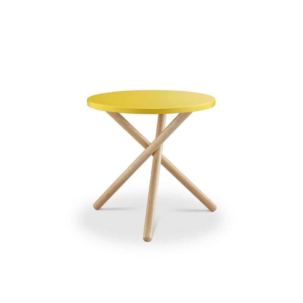 Incroyable ACME Furniture Lanica Yellow End Table