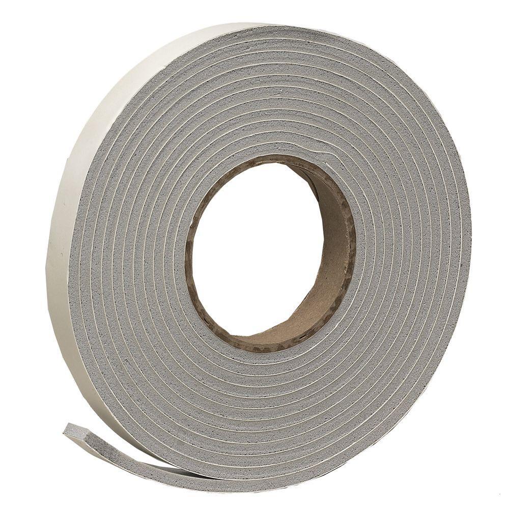 Frost King E/O 3/4 in. x 3/16 in. 17 ft. Grey Vinyl Foam Weather-Seal Self-Stick Tape