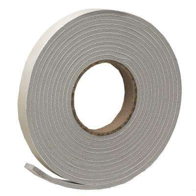 E/O 3/4 in. x 3/16 in. 17 ft. Grey Vinyl Foam Weather-Seal Self-Stick Tape