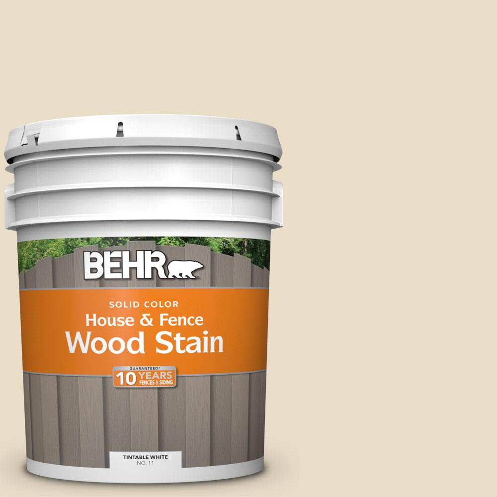 Behr 5 gal 22 navajo white solid house and fence - Behr exterior wood stain reviews ...