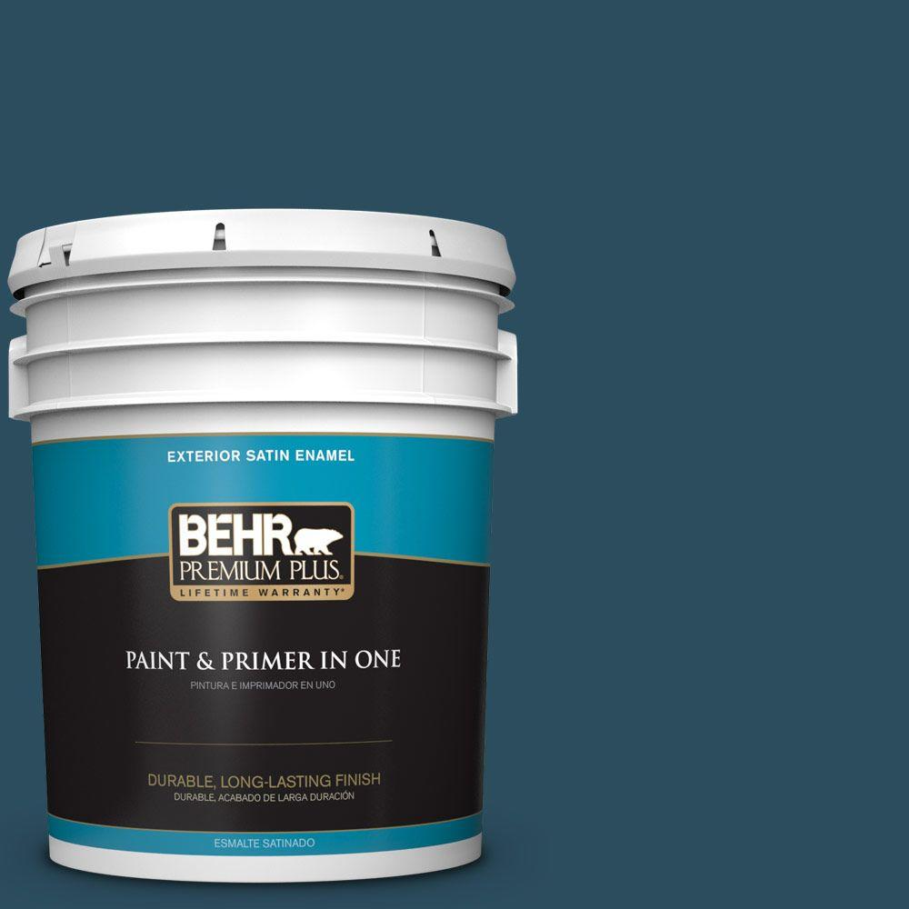 5-gal. #540F-7 Velvet Evening Satin Enamel Exterior Paint