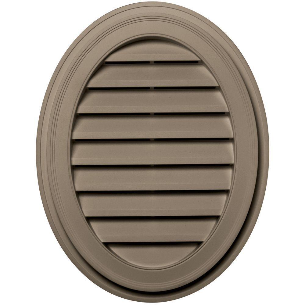 Builders Edge 27 in. Oval Gable Vent in Clay