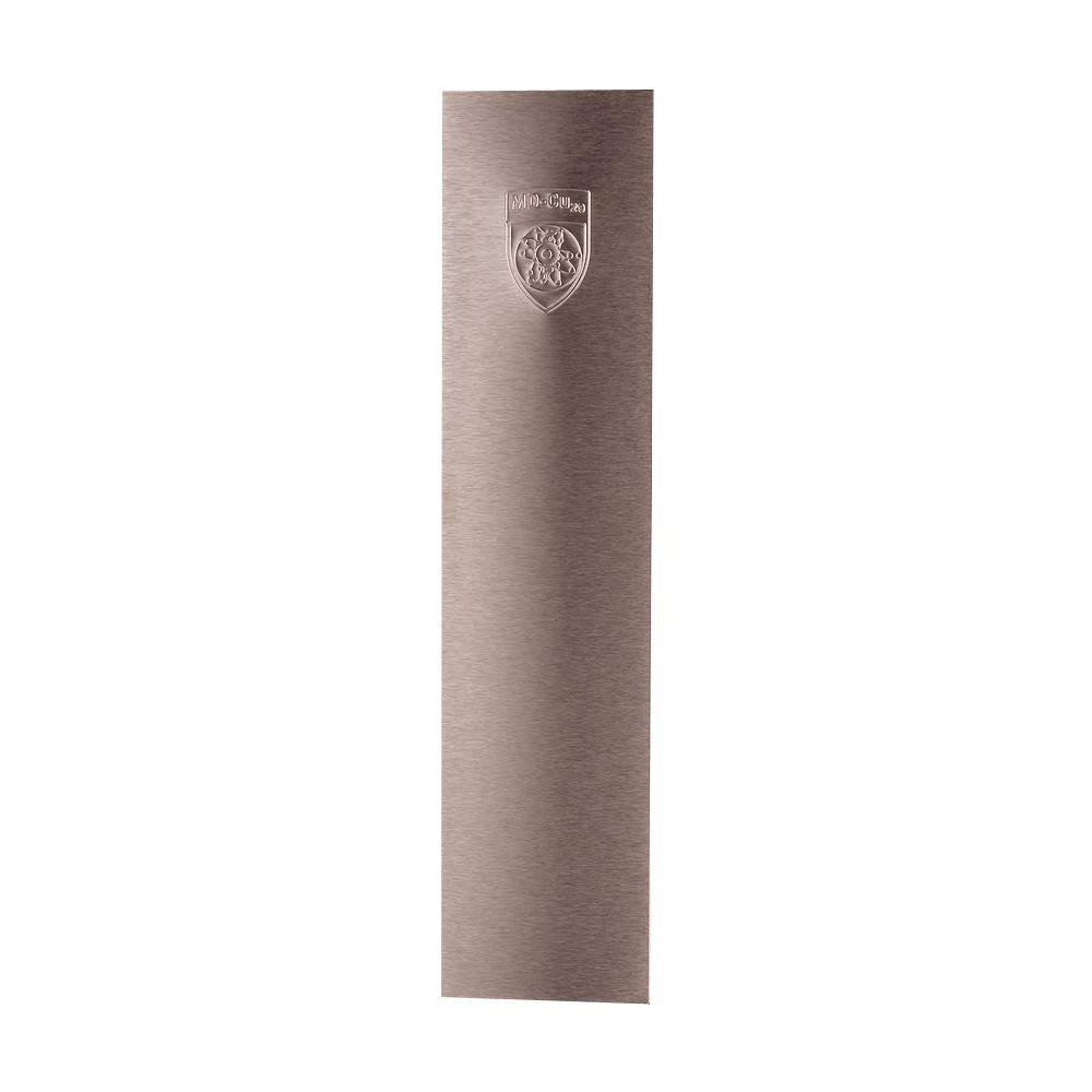 MD-Cu29 3.5 in. x 15 in. Brushed Copper Self-Adhesive Antimicrobial Push Plate