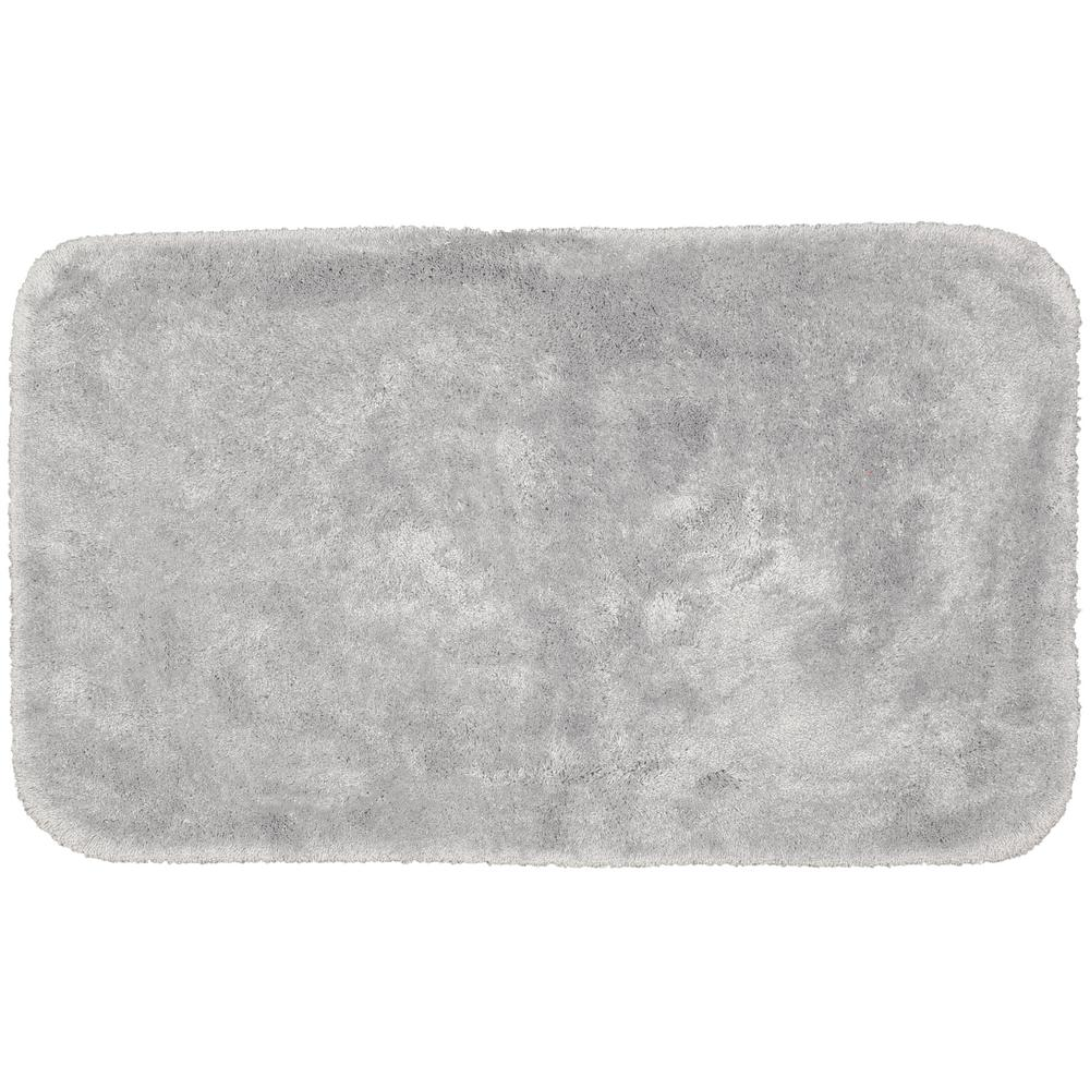 Garland Rug Finest Luxury Platinum Gray 30 in. x 50 in. Plush Nylon Bath Mat