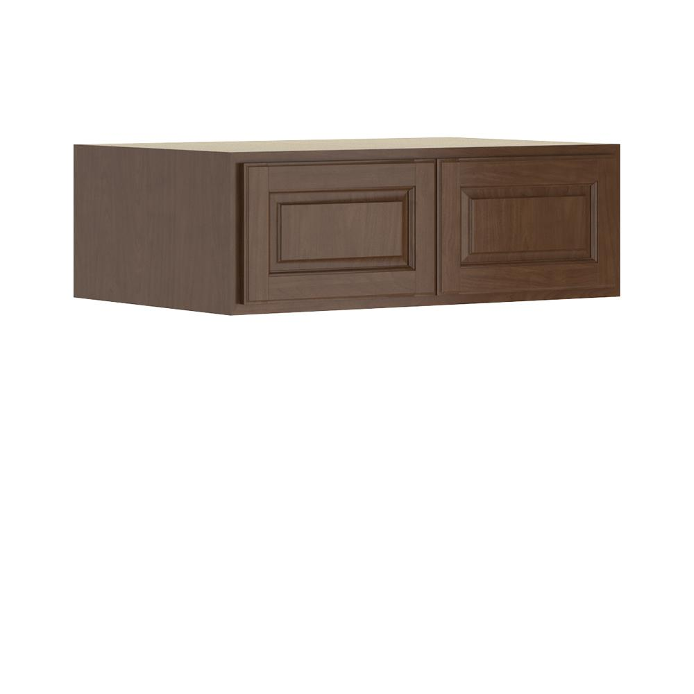 Madison Base Cabinets In Cognac: Hampton Bay Madison Assembled 36x12x24 In. Wall Deep