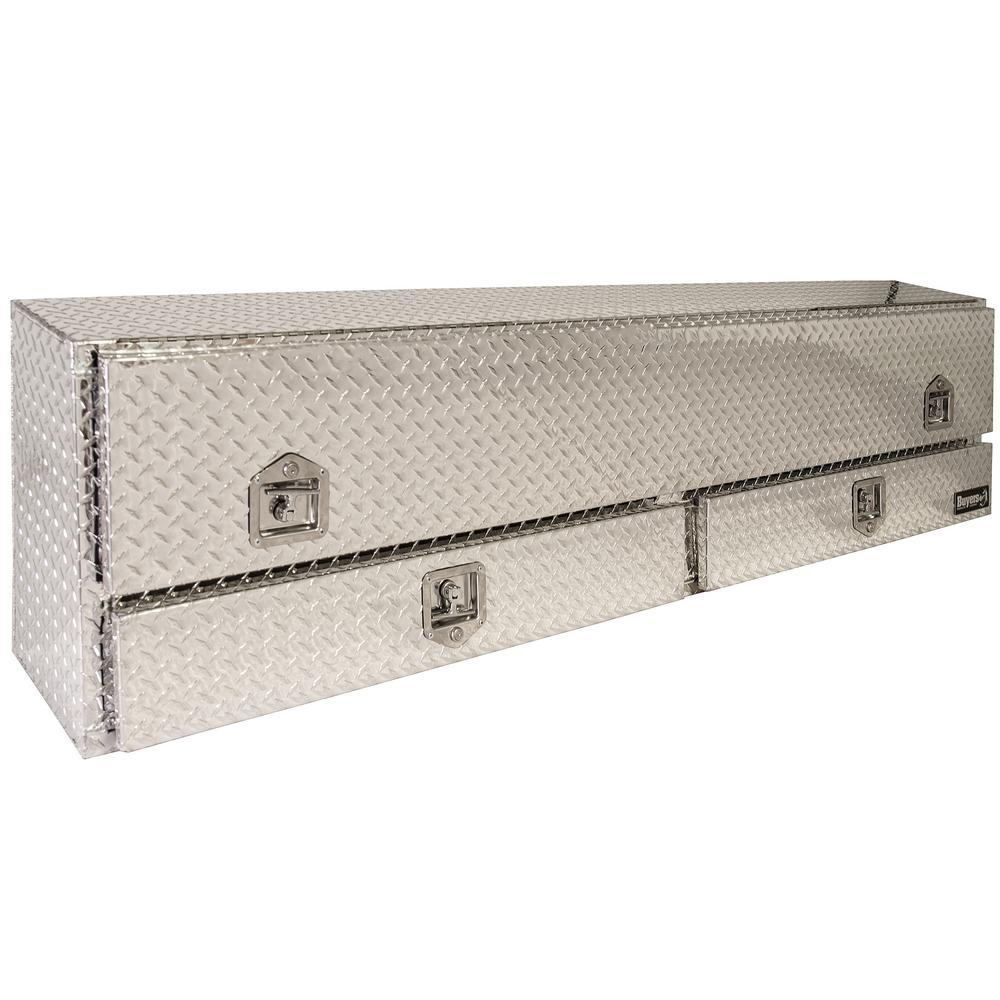 88 Diamond Plate Aluminum Low Profile Crossbed Truck Tool Box