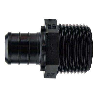 3/4 in. Plastic PEX Barb x Male Pipe Thread Adapter (5-Pack)