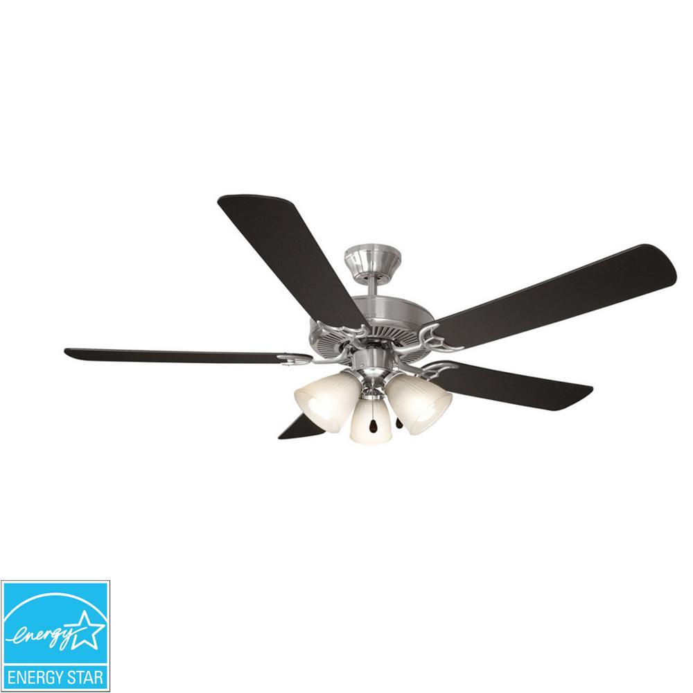 Design House Millbridge 52 in. Indoor Satin Nickel Energy Star Ceiling Fan