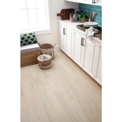 Ivory Lace 0.28 in. Thick x 5 in. Width x Varying Length Waterproof Engineered Hardwood Flooring (16.68 sq. ft./case)