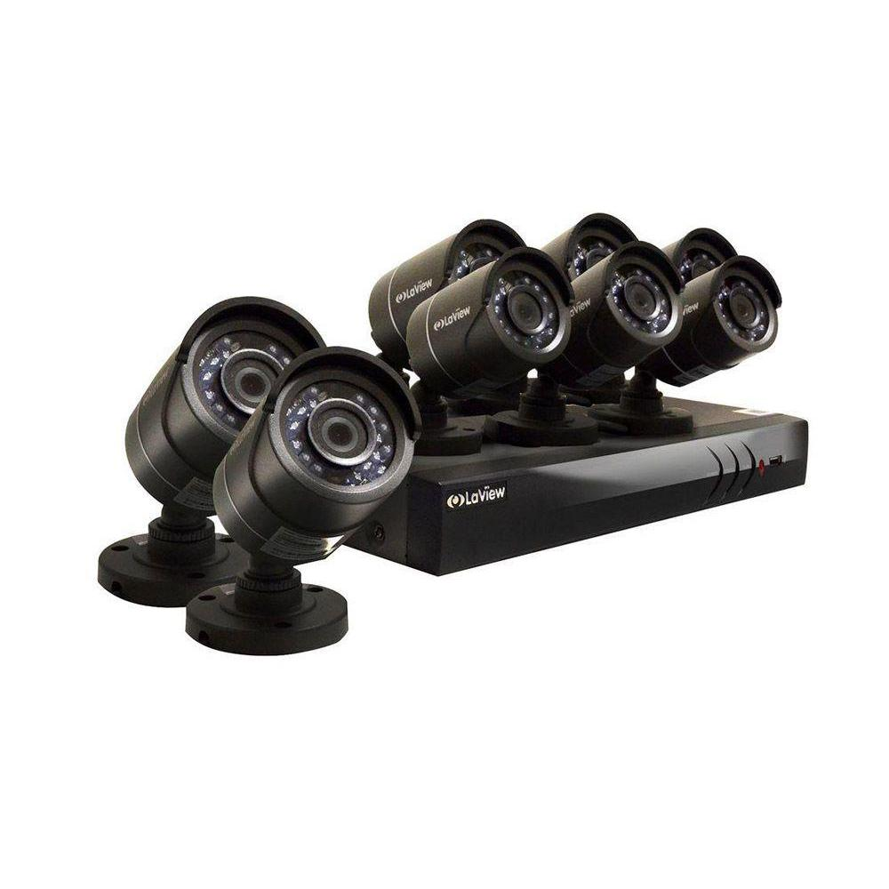 LaView 16-Channel HD 3TB HDD Indoor/Outdoor Surveillance System and (8) 1080P Camera PTZ/IP Compatible 65 ft. Night Vision