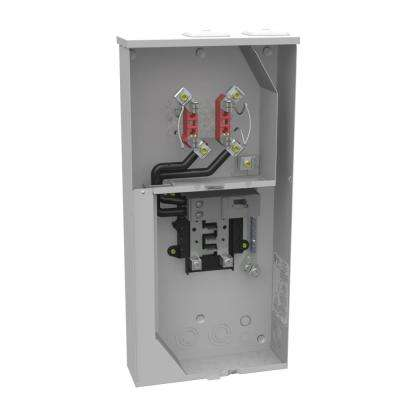200 Amp 4 Terminal Ringless Main Breaker 8-Space 16-Circuit Overhead Underground Combination Meter Socket Load Center
