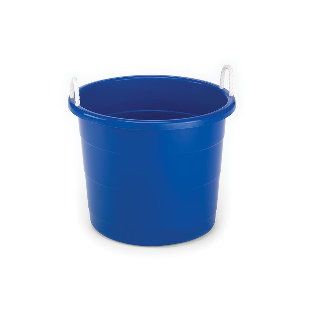 HOMZ 17 Gal. Rope Handle Storage Tub in Blue-0417CB.08 - The Home Depot