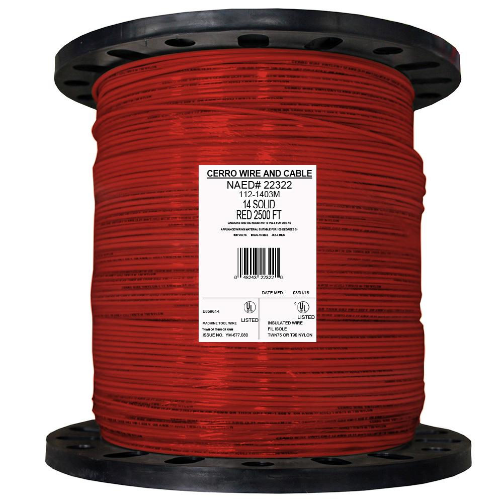 Cerrowire Wire Electrical The Home Depot Window Would Be Power Red And Ground White Here Is A 14 Solid Thhn