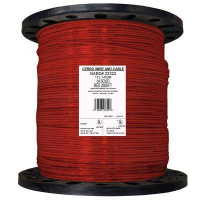 2500 ft. 14 Red Solid THHN Wire