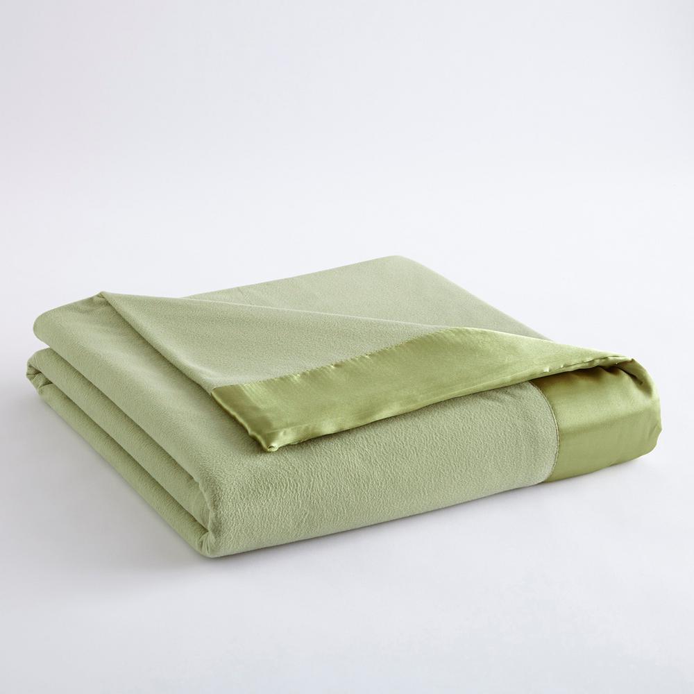 Micro Flannel All Seasons Lightweight Meadow Solid Queen Flat Sheet