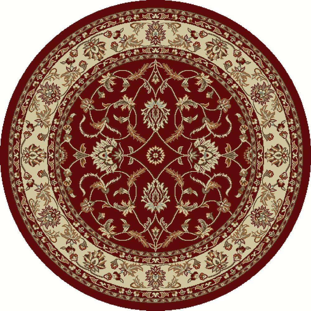 Chester Sultan Red 5 ft. 3 in. Round Area Rug