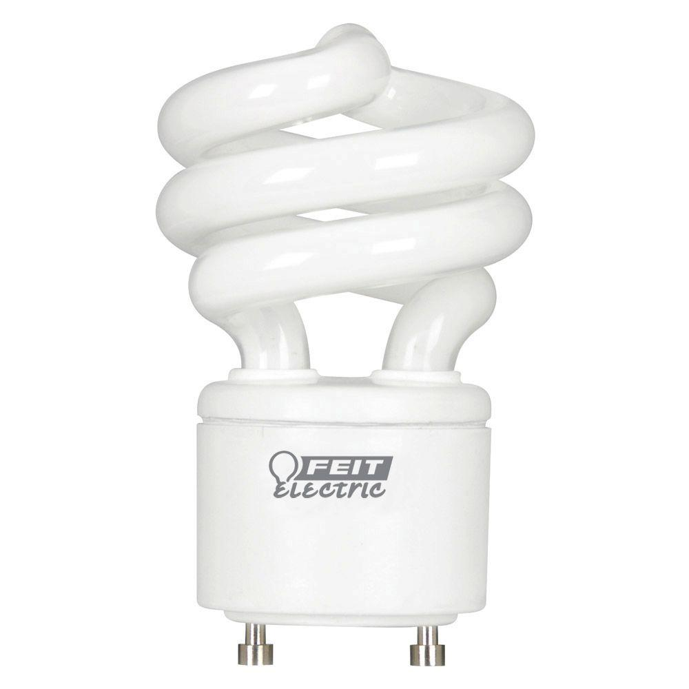 60W Equivalent Daylight (5000K) Spiral GU24 CFL Light Bulb  sc 1 st  Home Depot & Energy Saving - CFL Bulbs - Light Bulbs - The Home Depot