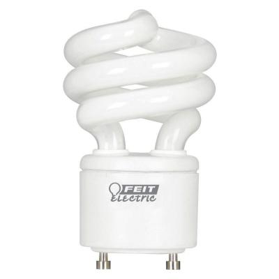 60-Watt Equivalent T3 Spiral Non-Dimmable GU24 Base Compact Fluorescent CFL Light Bulb, Daylight 5000K