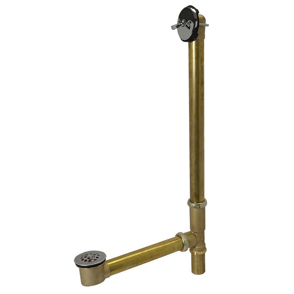 Trip Lever 1-1/2 in. 20-Gauge Brass Pipe Whirlpool Bath Waste and