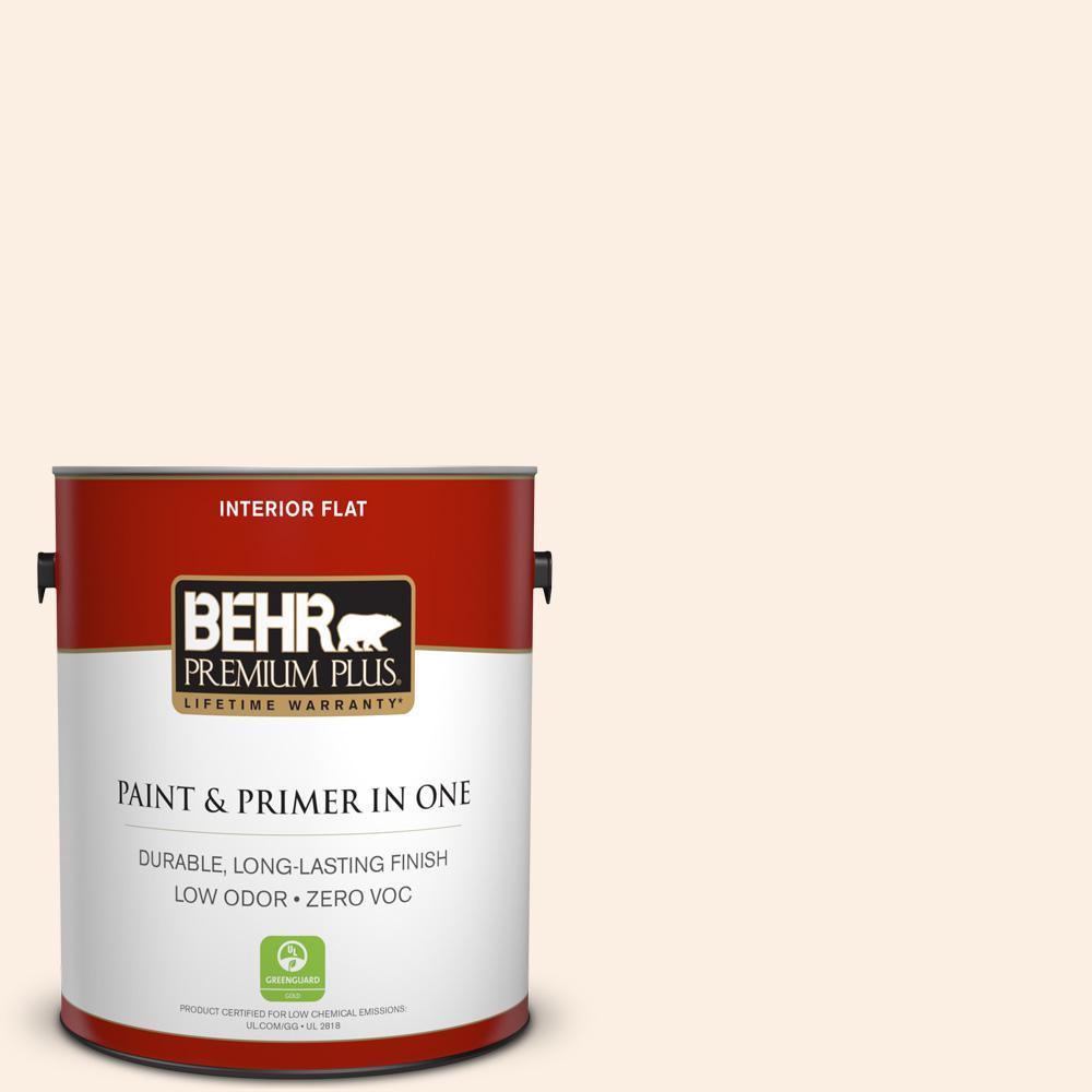 BEHR Premium Plus 1-gal. #PWN-24 Soft Gossamer Zero VOC Flat Interior Paint