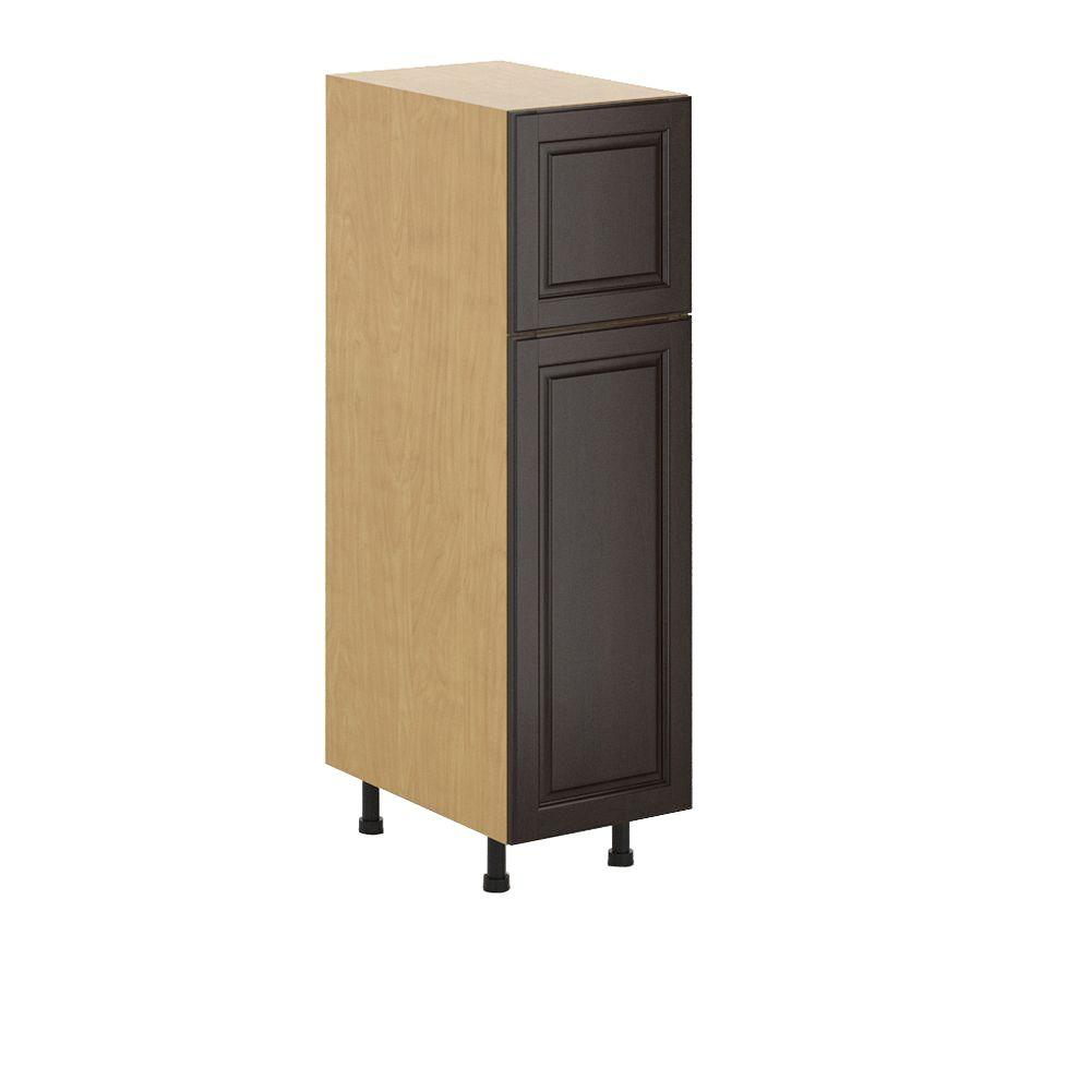 Eurostyle Naples Ready To Assemble 15 X 49 X 24 5 In Pantry Utility Cabinet In Maple Melamine