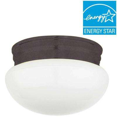 Furby 1-Light Oil Rubbed Bronze Flush Mount