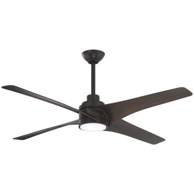 Dark Brown Wood Ceiling Fans With