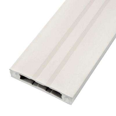 8 ft. Cordline 2-Way Cord Channel, Paintable White