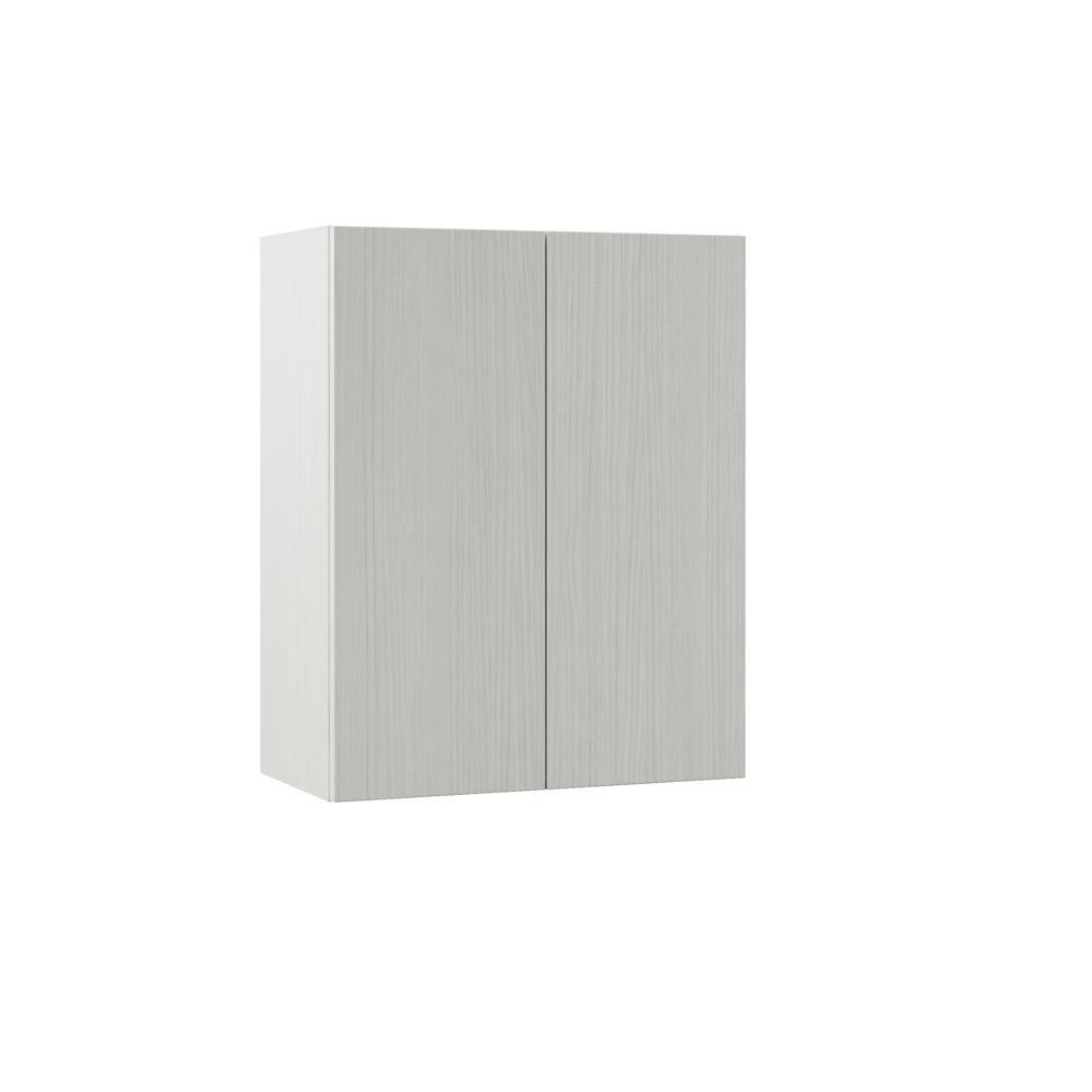 Hampton Bay Designer Series Edgeley Assembled 24x30x12 In Wall Kitchen Cabinet In Glacier W2430 Edgl The Home Depot
