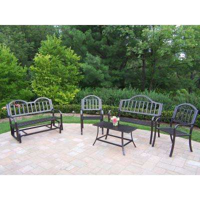 Rochester 5-Piece Metal Patio Conversation Set