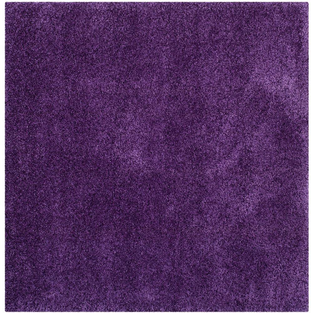 Safavieh Milan Shag Purple 7 Ft X 7 Ft Square Area Rug