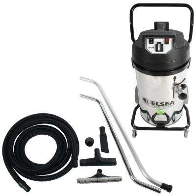 Trantor Industrial 2-Motor Canister Vacuum and Conductive Attachment Kit for Hardwood Floor Refinishing