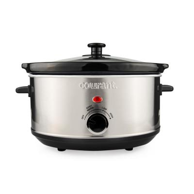 3.5 Qt. Stainless Steel Slow Cooker with Temperature Settings