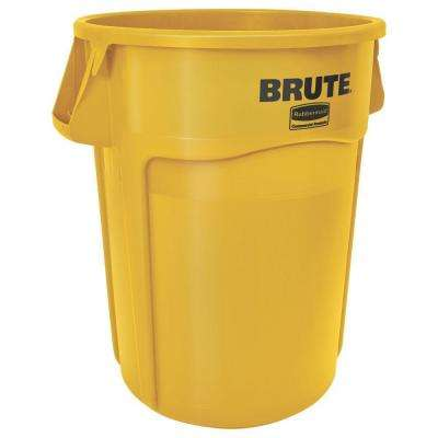 Brute 32 Gal. Yellow Round Vented Trash Can