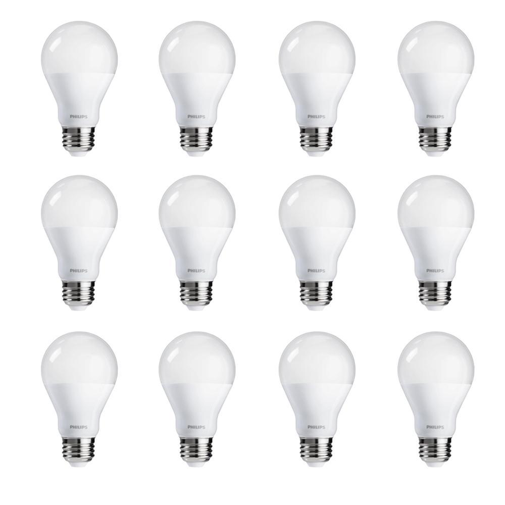 philips 60 watt equivalent a19 cri90 dimmable led light bulb soft