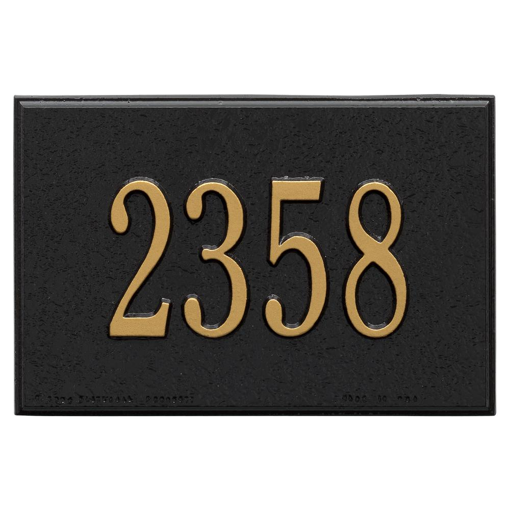 Whitehall Products Wall Mailbox Plaque in Black/Gold