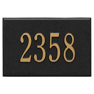 Wall Mailbox Plaque in Black/Gold